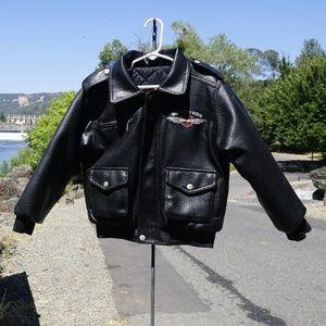 Cute Harley Davidson Jacket size 7 boy's EUC